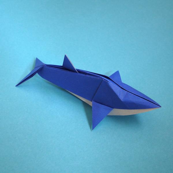 すべての折り紙 折り紙 ドラえもん 折り方 : 折り紙 イルカ - 折り紙 Origami ...