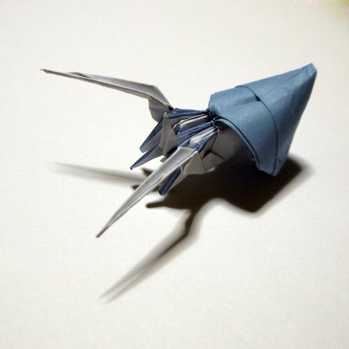 すべての折り紙 イルカ 折り紙 折り方 : 折り紙 ヤドカリ - 折り紙 Origami ...