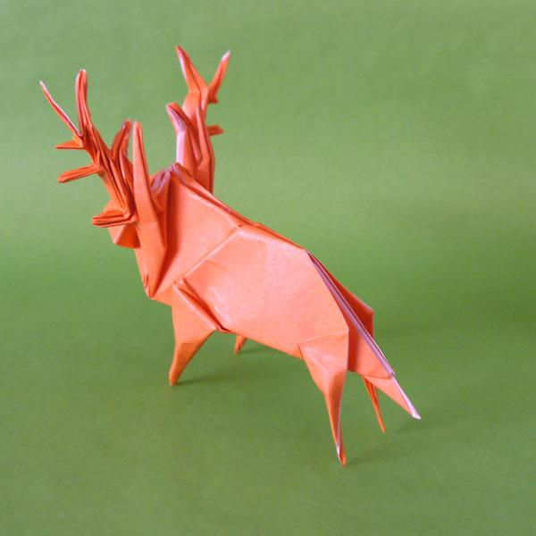 すべての折り紙 こいのぼり 折り紙 折り方 : 折り紙 鹿 - 折り紙 Origami ...