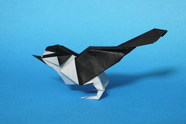 折り紙 セキレイ