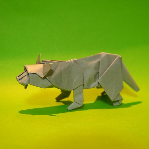 折り紙 ツシマヤマネコ