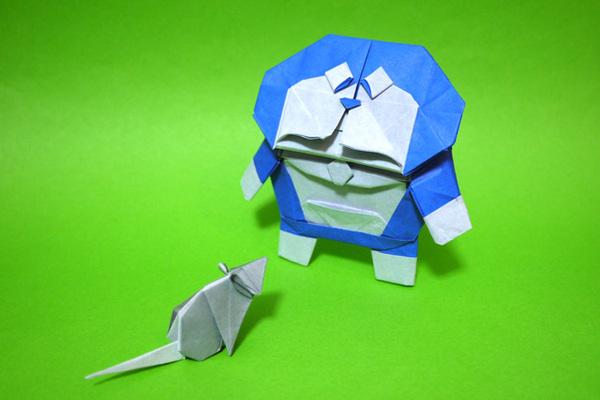 すべての折り紙 折り紙ドラえもんの折り方 : 折り紙 ドラえもん DORAEMON ...