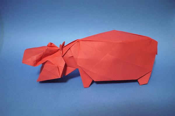 折り紙 カバ
