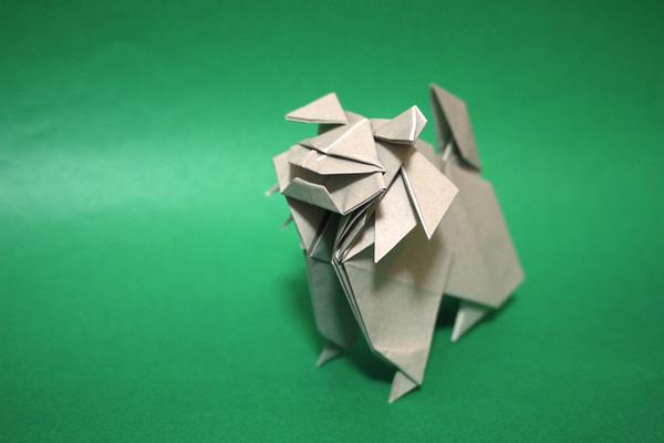折り紙 狛犬