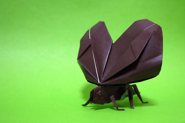 折り紙 鈴虫
