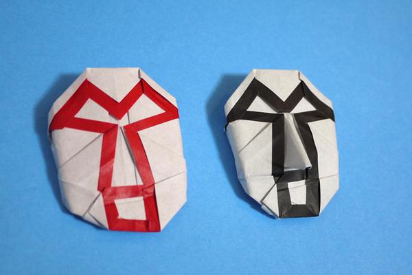 折り紙 レスラーのマスク
