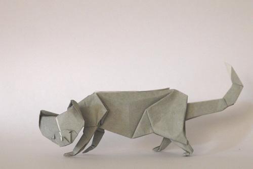 簡単 折り紙 折り紙犬折り方立体 : divulgando.net