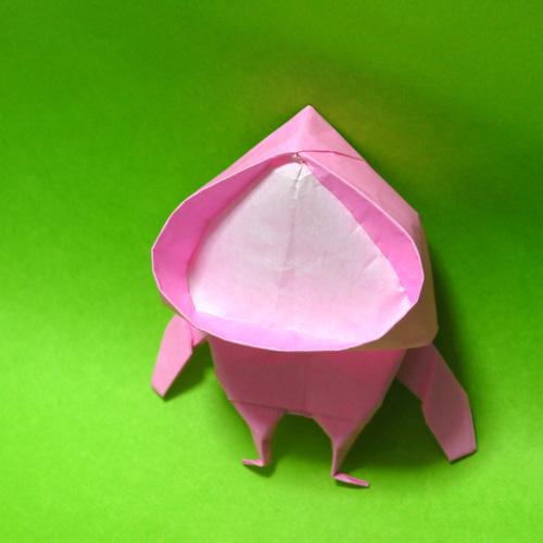 折り紙 カクレモモジリ