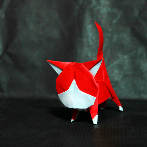 折り紙 アカマル(妖怪ウォッチ)