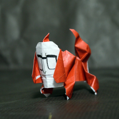 折り紙 人面犬(妖怪ウォッチ)