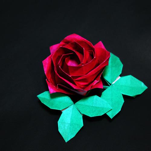 折り紙の薔薇です。川崎ローズ ...