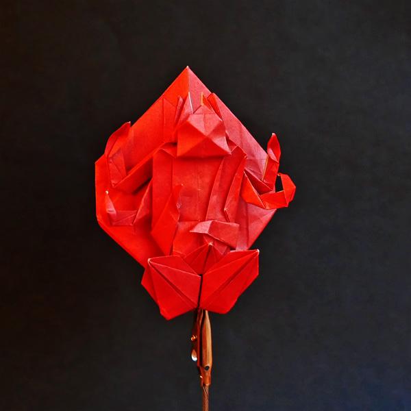 折り紙の愛染明王