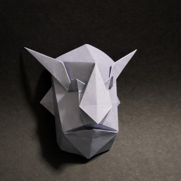 折り紙 悪魔の面