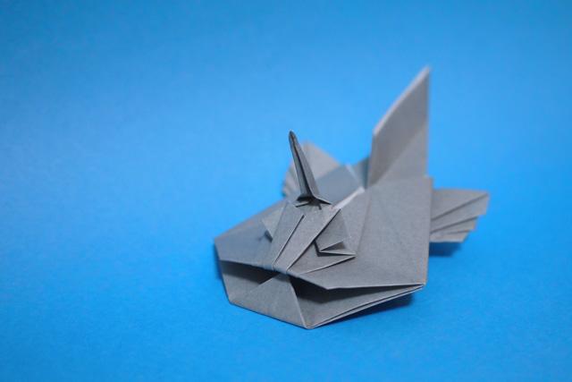 折り紙のアンコウ