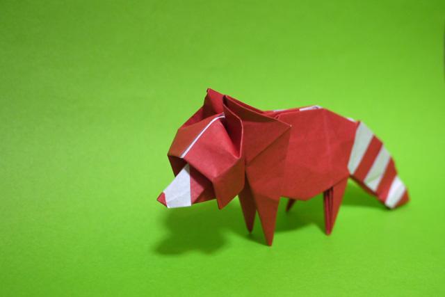 折り紙 アライグマ