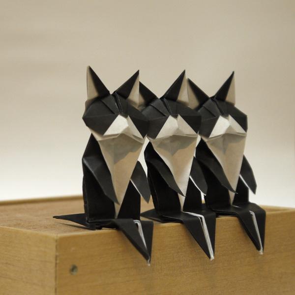 折り紙 バリ猫