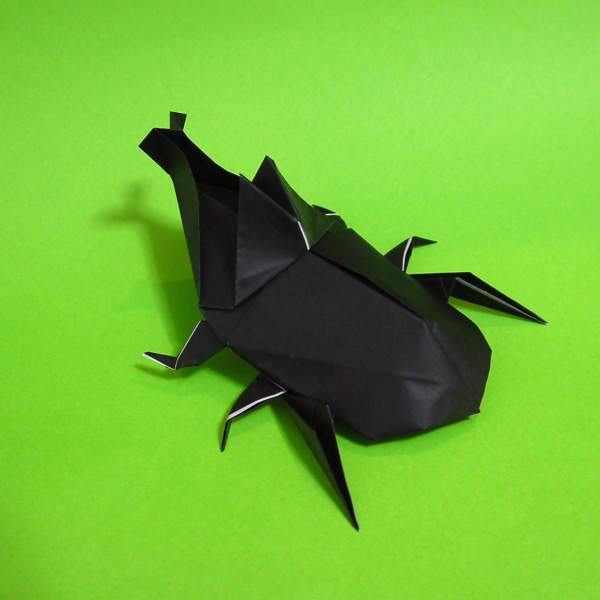 折り紙 簡単カブトムシ