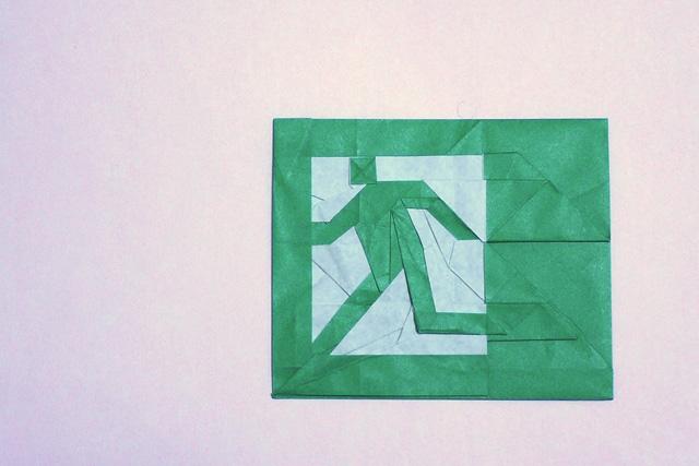 折り紙 非常口のマーク
