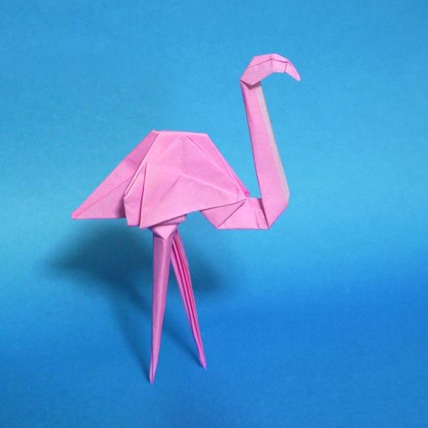 折り紙 フラミンゴ