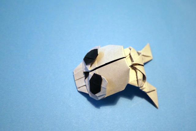 折り紙 ぴょんぴょん骸骨
