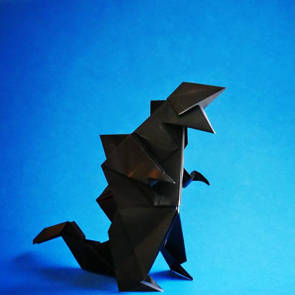 折り紙 ゴジラ