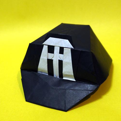 阪神タイガースの帽子の折り紙
