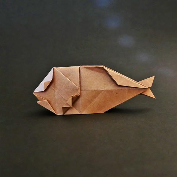 折り紙の魚の開き