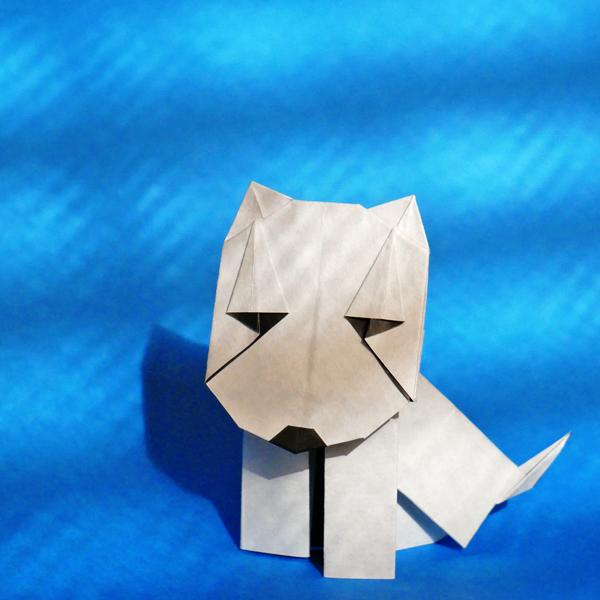 折り紙のブルテリア