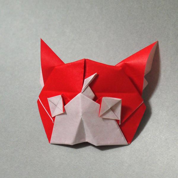 折り紙 妖怪ウォッチ ジバニャンの顔