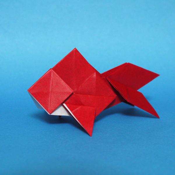 クリスマス 折り紙 折り紙 金魚 : origamida.com
