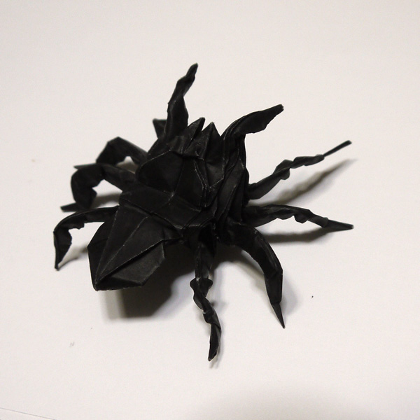 簡単 折り紙 折り紙 蜘蛛 : origamida.com
