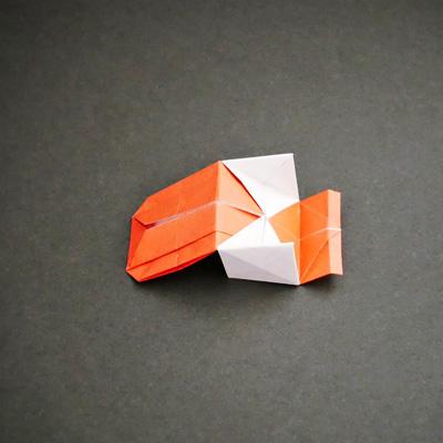 折り紙の車椅子