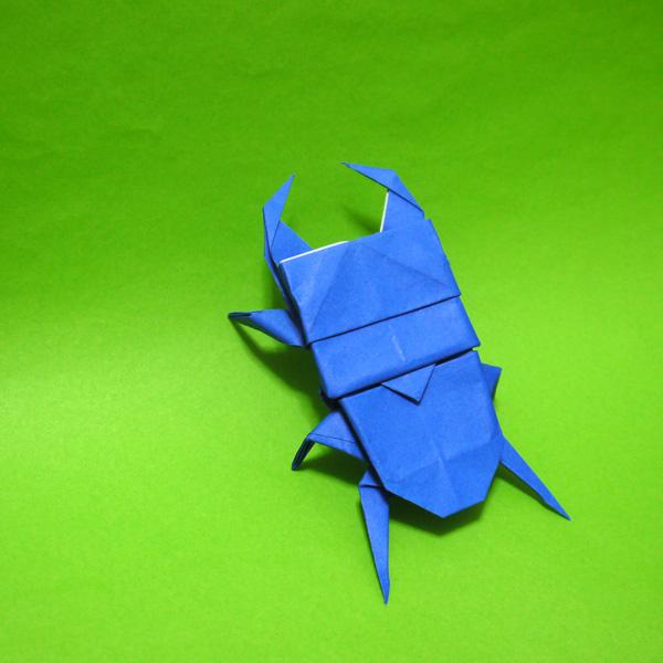 折り紙 クワガタムシ