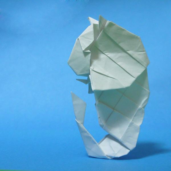 折り紙 シンガポールのマーライオン