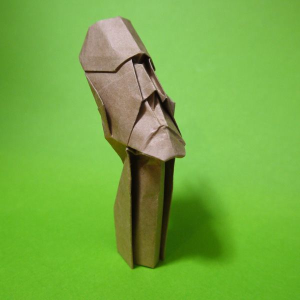折り紙 イースター島のモアイ
