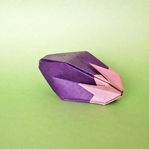 折り紙のナス