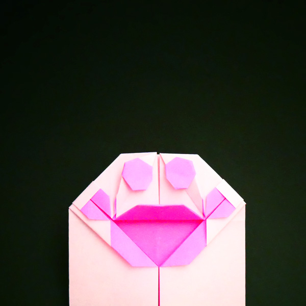折り紙の肉球