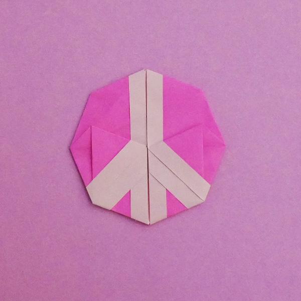 折り紙のピースマーク