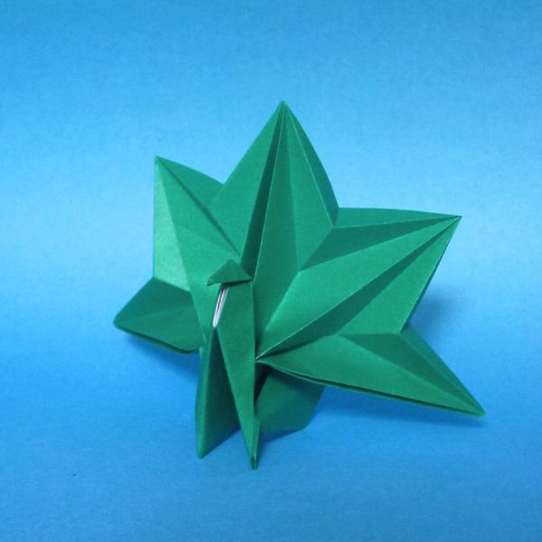 折り紙 孔雀