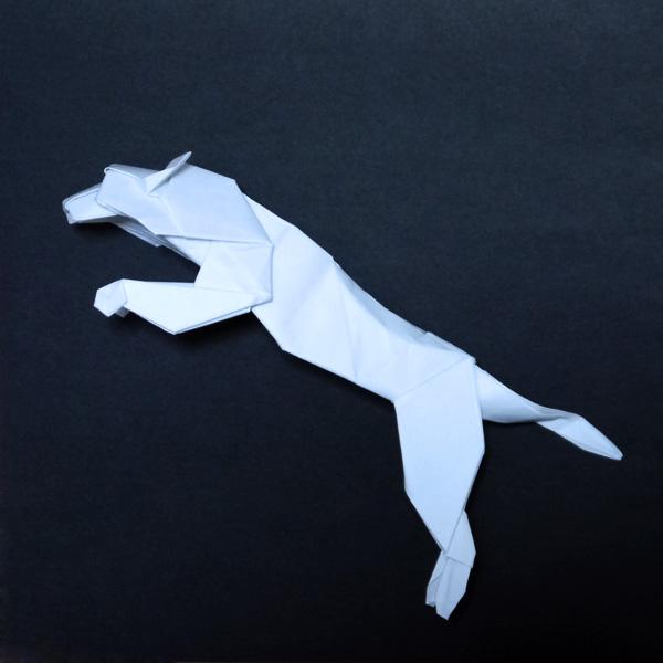 折り紙 プーマのロゴ