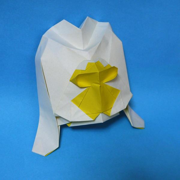 折り紙 ロール ケーキ