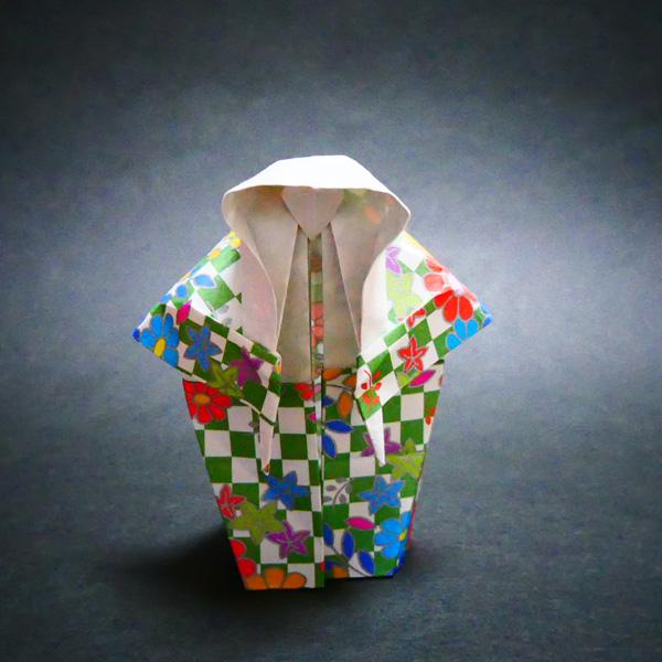 折り紙の歌舞伎の連獅子