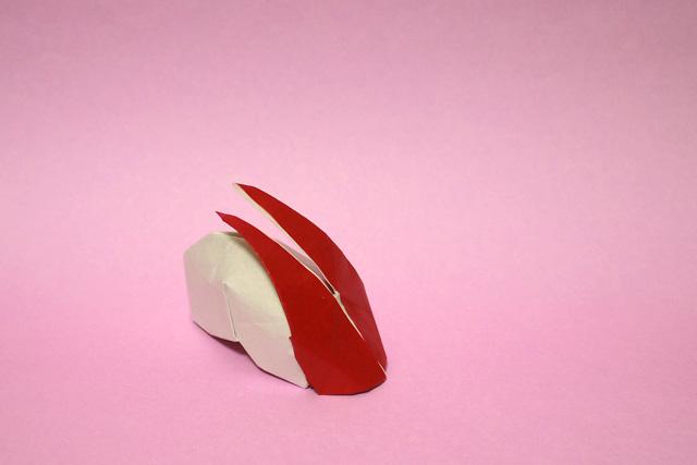 折り紙 りんごうさぎ