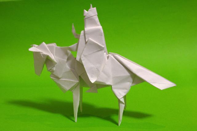 折り紙 馬に乗った三蔵法師