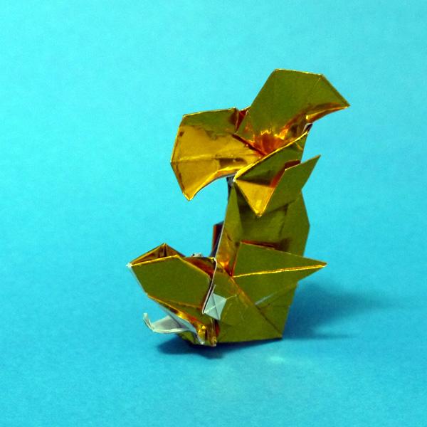 すべての折り紙 折り紙 お城 折り方 : 折り紙 しゃちほこ - 折り紙 ...
