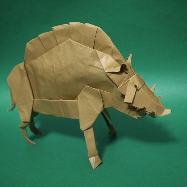 折り紙 猪 もののけ姫