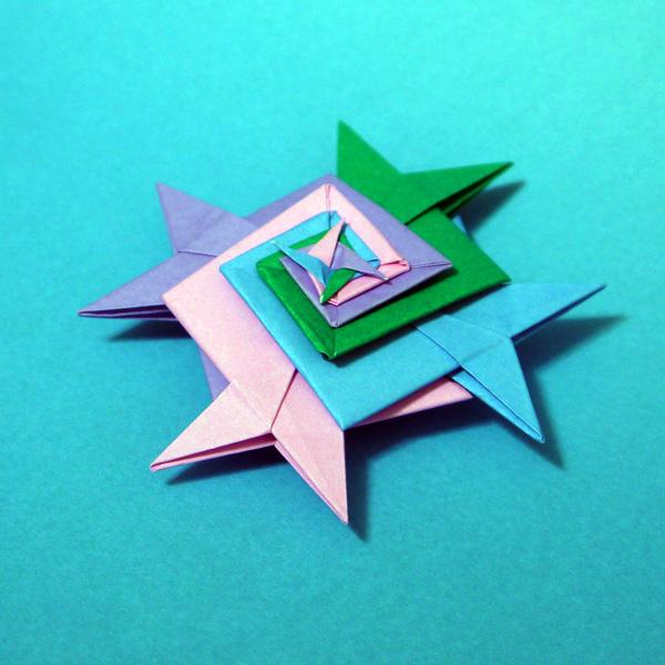 ハート 折り紙:折り紙 雪だるま 立体-divulgando.net