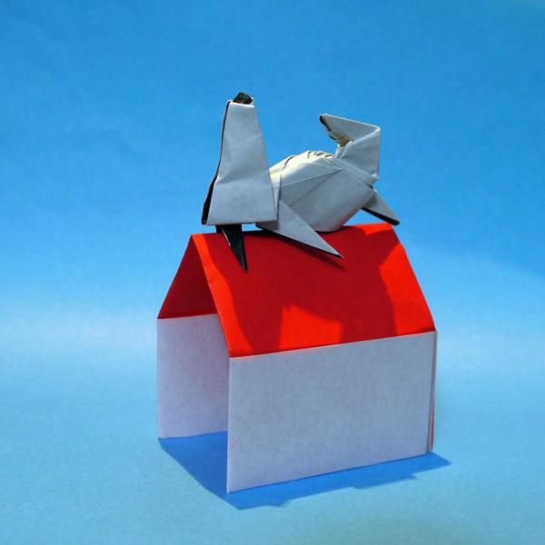 折り紙 スヌーピー