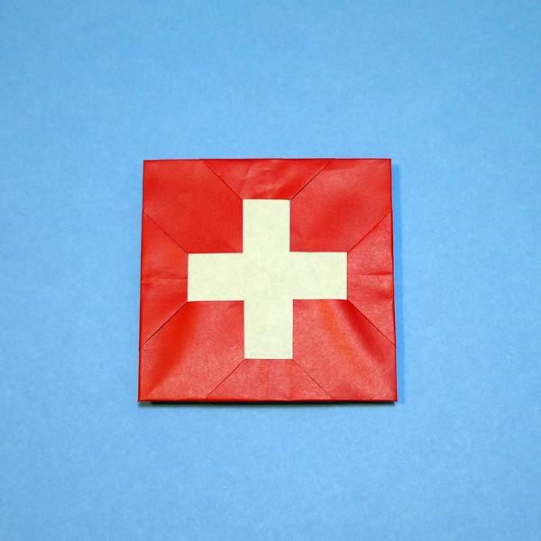 折り紙 スイスの国旗