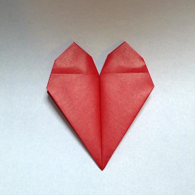 折り紙 トランプのハートマーク